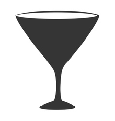 Wine glass cup icon vector