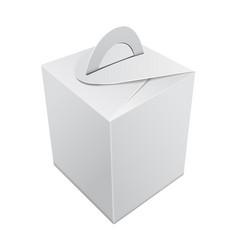 Blank kraft paper gift box mockup white vector