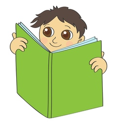 boy read vector image