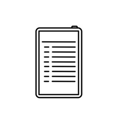 bulleted list on tablet vector image