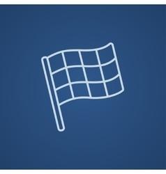 Checkered flag line icon vector