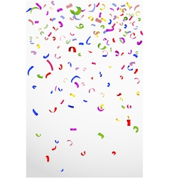 Colorful confetti on white background for celebrat vector image