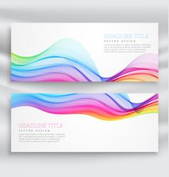 Colorful wave banner on white background vector