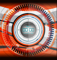 cyber timer digital vector image