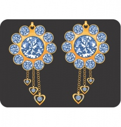 earrings vector image vector image