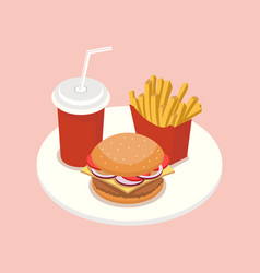 Fast food isometric vector