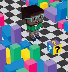Geek boy invasion video game asset isometric vector
