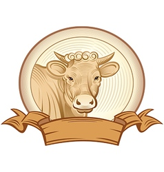 Graphical heifer vector image vector image