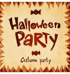 Halloween party message design paper background vector
