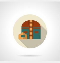 Industrial hangar flat color icon vector