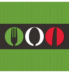Italian menu design with cutlery symbols vector