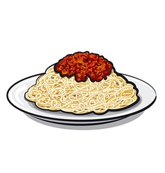 italian spaghetti vector image