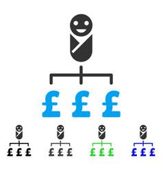 Kid pound expenses flat icon vector