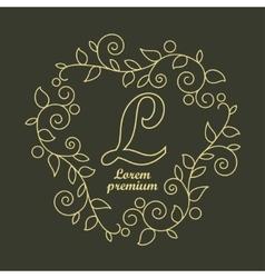 Linear Luxury logo vector image vector image