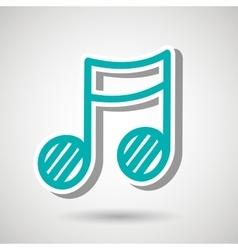 Music note design vector