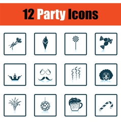 Set of celebration icons vector image