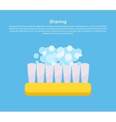 Shaving Concept Banner vector image vector image