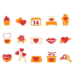 simple color Valentines Day icons vector image vector image