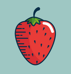 strawberry fresh fruit handmade drawn vector image vector image