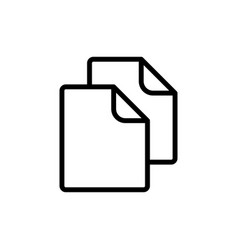 thin line document blank icon vector image