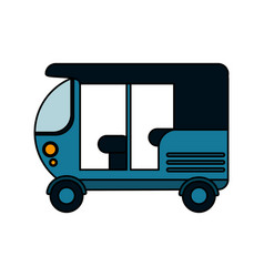 Tuk tuk or rickshaw icon image vector