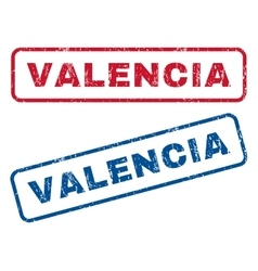 Valencia Rubber Stamps vector image vector image