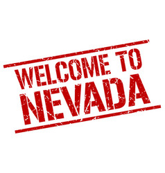 Welcome to nevada stamp vector