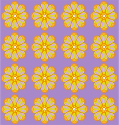 Yellow amber flowers on lilac backdrop vector
