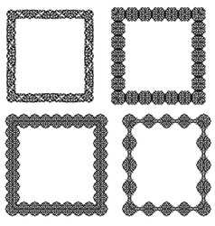 Set of black frame vector