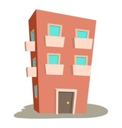 Dwelling house icon cartoon style vector