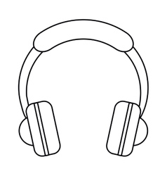 Headphones music listen mobile outline vector