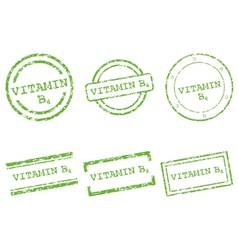 Vitamin b4 stamps vector