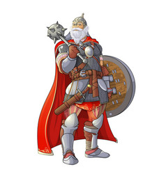 viking with a club vector image