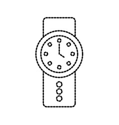 Wrist watch time business elegance icon vector