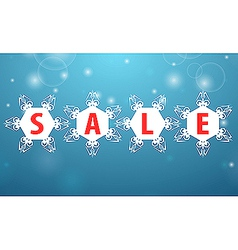 Winter sale four snowflake vector