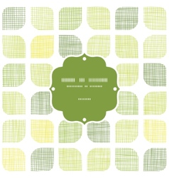 Abstract textile green rounded squares frame vector