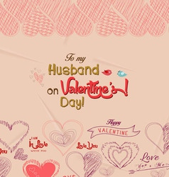 Happy valentines day greeting card 4 vector