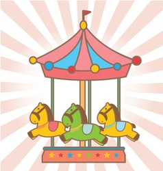 Cute carousel vector