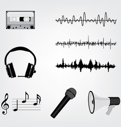 Musical icon set vector