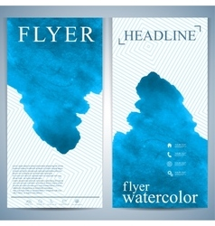 Modern watercolor flyer or leaflet layout design vector