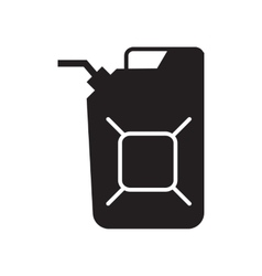 Jerrycan oil icon vector