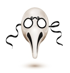 Traditional venetian carnival mask - doctor plague vector