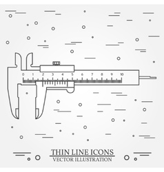 thin line icon calipers For web design vector image