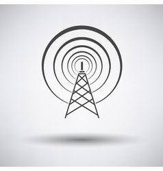 Radio antenna icon vector