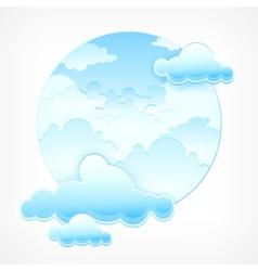 Blue sky in round vector