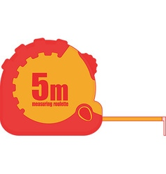 5m measuring tape icon vector