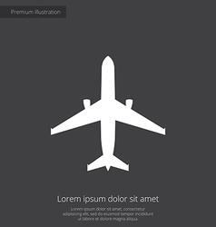 airplane premium icon vector image
