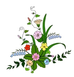Beautiful bouquet of wild flowers vector