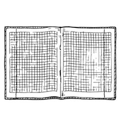 Checkered notebook vector