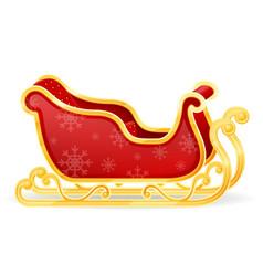 christmas santa claus sleigh stock vector image vector image